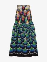 Mary Katrantzou Parakeet jacquard maxi skirt