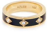 AZLEE Night Sky diamond, enamel & yellow-gold ring
