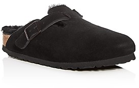 Birkenstock Women's Boston Suede & Shearling Mules