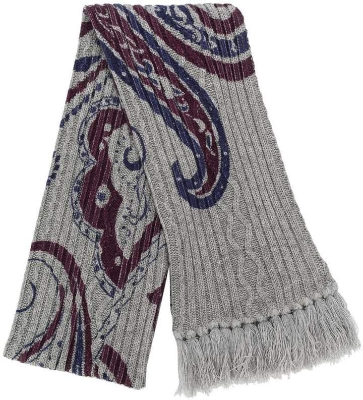 Etro paisley print knit scarf