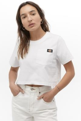 Dickies White Cropped T-Shirt - White XS at Urban Outfitters