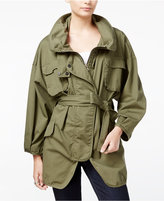 William Rast Britt Belted Military Jacket