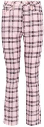 Paige Check Hoxton Slim-Fit Jeans