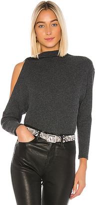 Enza Costa Rib Long Sleeve High Neck Sweater