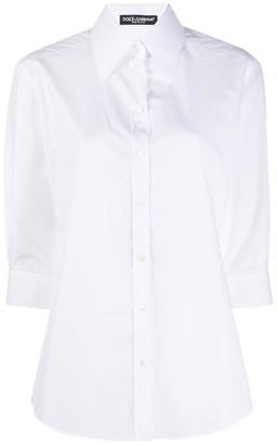 Dolce & Gabbana Cotton Poplin Button Down Shirt