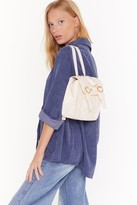 Nasty Gal Womens WANT We Quilt This City Faux Leather Backpack - white - One Size