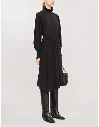 Etoile Isabel Marant Yescott high neck silk midi dress