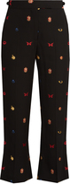 Alexander McQueen Obsession fil coupé flared crepe trousers