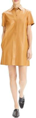 Theory Leather Shirt Dress