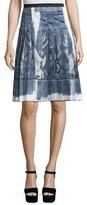Marc Jacobs High-Waist Pleated Skirt, White