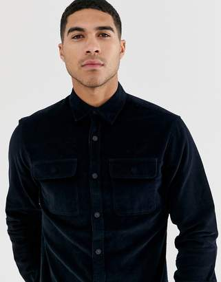 Jack and Jones Core utility cord shirt in navy