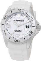 Haurex Italy Men's Ink Aluminum Soft Rubber Date Watch 1K374UWW