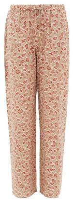Hanro Leopard-print Drawstring-waist Pyjama Trousers - Womens - Beige Print