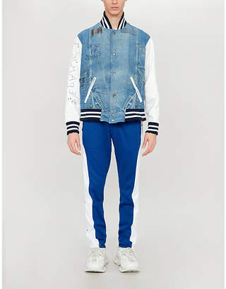 Greg Lauren Varsity denim jacket
