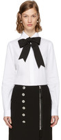 Dolce & Gabbana White Bow Shirt