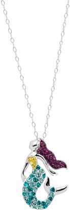 Swarovski Crystaluxe Women's Necklaces White - Purple & Aqua Mermaid Pendant Necklace With Crystals