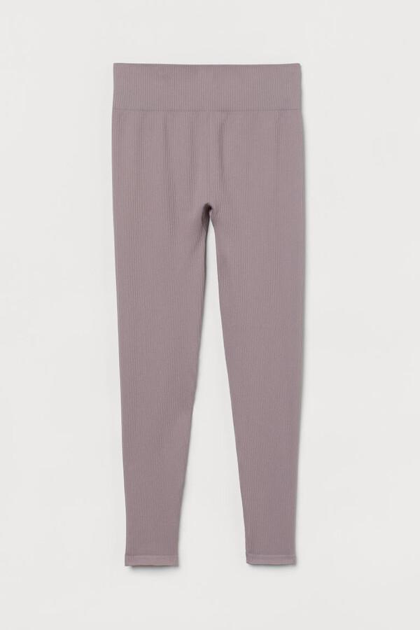 H&M Seamless Sports Leggings - Purple