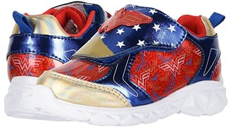 Favorite Characters WWF305 Wonder Womantm Lighted Sneaker (Toddler/Little Kid) (Red/Blue) Girl's Shoes