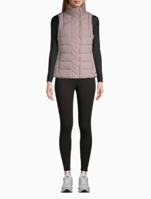 Calvin Klein Performance Quilted Asymmetric Zip Vest