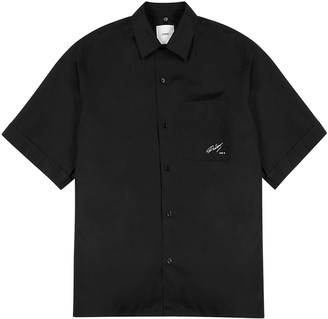 Oamc Black printed cotton shirt
