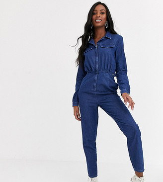 Asos Tall ASOS DESIGN Tall lightweight tailored boilersuit in blue