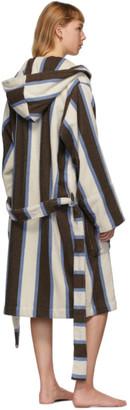 Tekla Multicolor Hooded Bathrobe