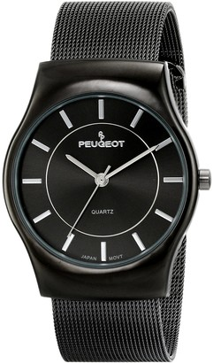 Peugeot Men's 1002SL Silver-Tone Mesh Bracelet Watch
