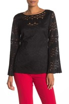 Trina Turk Happy Hour Lace Bell Sleeve Blouse