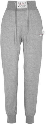Adam Selman Sport Grey Metallic Stretch-jersey Sweatpants
