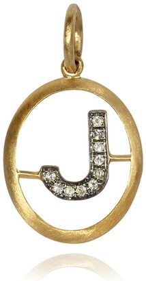 Annoushka Yellow Gold And Diamond Initial J Pendant