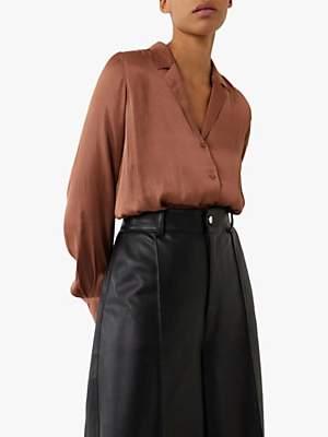 Warehouse Satin Lapel Collar Shirt