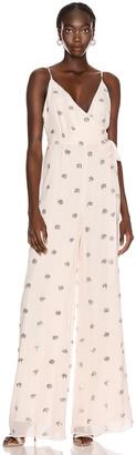 Alexis Cosmina Jumpsuit in Embellished Blush | FWRD