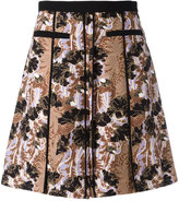 Carven floral pleated skirt
