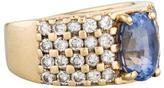 Ring 14K Sapphire and Diamond