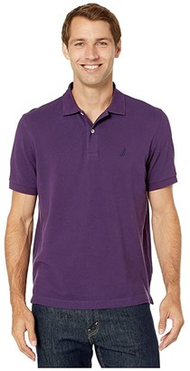 Nautica Short Sleeve Solid Deck Shirt (Blackberry) Men's Short Sleeve Knit