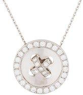 Van Cleef & Arpels 18K Diamond Button Pendant Necklace