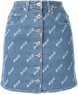 Ground Zero buttoned front denim skirt