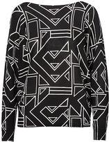 Ralph Lauren Petite Geometric-Print Sweater