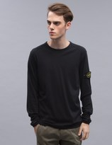 Stone Island L/S T-shirt With Logo Arm Patch