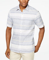 Tasso Elba Linen Short-Sleeve Horizontal Shirt, Only at Macy's