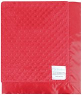 MyBlankee My Blankee Minky Dot Velour Red and Flat Satin Border, Baby Blanket 30 X 35