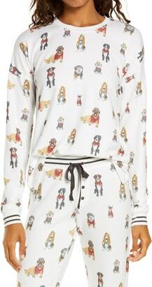 PJ Salvage Hip Hound Long Sleeve Pajama Top