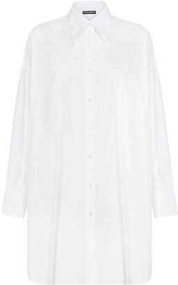 Dolce & Gabbana High-Low Hem Tunic Shirt