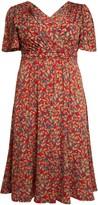Evans **J By Jolie Red Flare Midi Dress