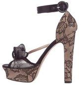 Valentino Lace Platform Sandals