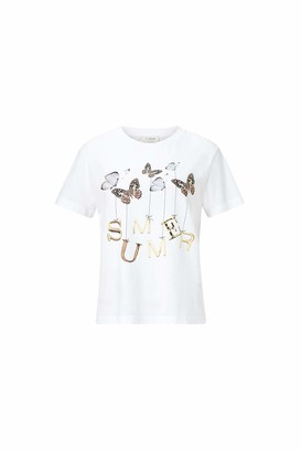 Rich & Royal rich&royal Women's T-Shirt with Butterfly Print