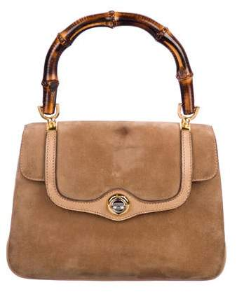 5bfc87be98371 Vine Bamboo Top Handle Bag. Bamboo Top Handle Bag. Gucci Navy Blue Leather  New Bullet ...