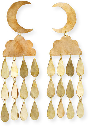 We Dream In Colour Night Shower Earrings, Gold