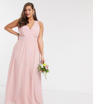 TFNC Bridesmaid Plus top wrap chiffon dress