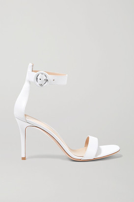 Gianvito Rossi Portofino 85 Leather Sandals - White